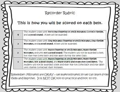 Love this rubric for recorder testing and scoring. I think I will make a recorder notebook this year.