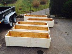 grande jardinière en bois de palette recyclé : Accessoires de maison par palcreassion