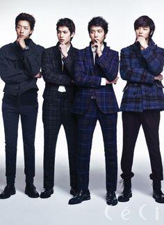 C.N Blue - Ceci Magazine January Issue '13 : Jungshin, Minhyuk, Yonghwa, Jonghyun