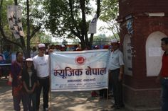 Banner flying high, supporting the artist in Nepal for the royalty and celebrated World Intellectual Property Day 26th of April 2014 in Grand Style !!!!!!! we made this rally successful and proud to be able to support thousands of artists in Nepal!!!  Keep Loving Nepali Music and Artists!!!!!!!!