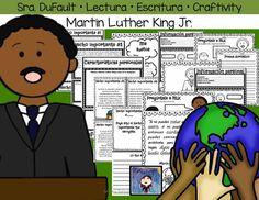 Producto rediseñado para aprender de Martin Luther King Jr. Mas de 30 hojas para imprimir en B&N. Listas para usar.