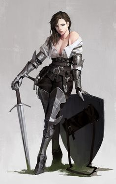 Fantasy Girl Art and Visit the link to watch Full Fantasy Female Warrior, Female Knight, Warrior Girl, Fantasy Armor, Fantasy Women, Fantasy Girl, Fantasy Fighter, Medieval Fantasy, Female Character Concept