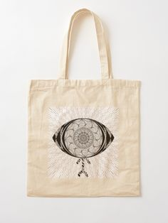 """The AyEye Mummy_Version01"" Cotton Tote Bag, print design by Asmo Turunen. #design #totebag #shoppingbag #kestokassi #kangaskassi #atcreativevisuals"