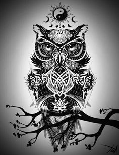 #owl #exoteric #black #dark