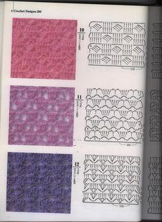 Crochet paso a paso puntadas 23 ideas for 2019 Crochet Diy, Crochet Gratis, Crochet Motifs, Crochet Diagram, Crochet Stitches Patterns, Crochet Chart, Crochet Basics, Knitting Stitches, Crochet Designs