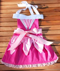 Princess inspired Apron/Dress up dress apron by MelissasStitches