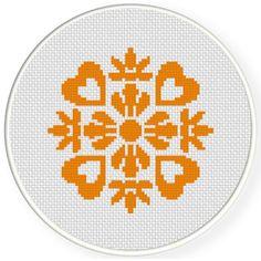 FREE Damask Design Pattern 04 Cross Stitch Pattern