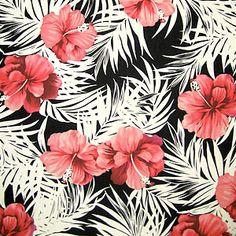 #pattern tissu exotique rose et blanc