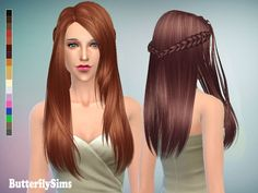 Butterflysims's Free Hairstyle 136 Long hairstyles for Females ~ Sims 4 Hairs The Sims, Sims 4 Cas, Sims Cc, Best Sims, Sims Games, Sims Hair, Sims 4 Update, Sims 4 Cc Finds, Sims Mods