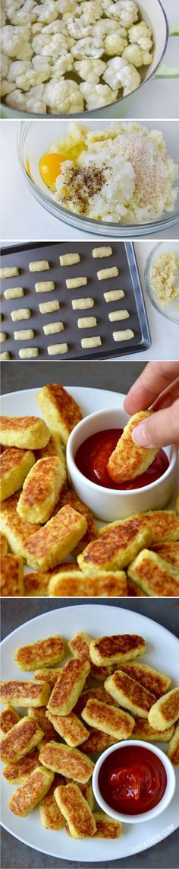 5-Ingredient Baked Cauliflower Tots - baked, cauliflower, healthy, recipes, tots, vegan