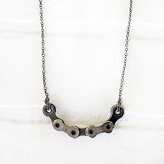 Chain Link Necklace  by Design LifeCycle Bold, Upcycled Bike Jewelry