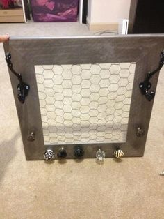 jewlery holder by RebelKreations on Etsy, $35.00. Love being able to see all my jewelry displayed.