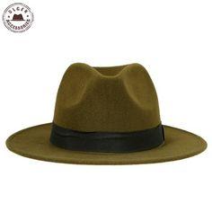 7.99  Vente chaude pas cher unisexe laine chapeaux de Jazz fedora chapeau  femmes chapeau de feutre cowboy panama chapeaux pour femmes derby chapeaux  ... 08663826b13