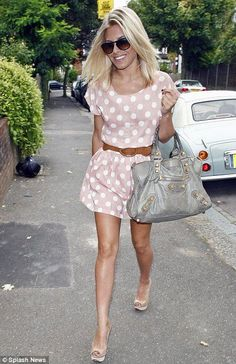 Mollie King Polka Dot Dress, would go great with my nude heels, I WANT!