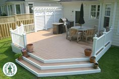 When you build a wooden deck you'll be awed by the gleaming warm wood and the way it transforms your […] Small Pergola, Pergola With Roof, Wooden Decks, Wooden Diy, Creative Deck Ideas, Whirlpool Deck, Wood Deck Designs, Wood Deck Railing, White Deck