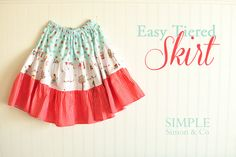 SEW IT! Easy Tiered Skirt tutorial || Simple Simon & Co. for Riley Blake