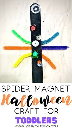 Spider Magnet Halloween Craft for Toddlers Halloween Crafts For Toddlers, Toddler Crafts, Toddler Activities, Crafts For Kids, Halloween Activities, Crafts To Make, Diy Crafts, Fall Crafts