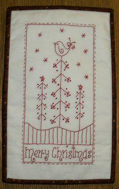 Merry Christmas Stitchery, via Flickr.