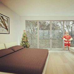 Santa Bedroom #christmas