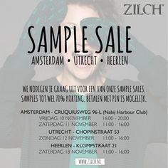 Zilch sample sale - Amsterdam - Utrecht Heerlen -- Amsterdam -- 10/11-18/11