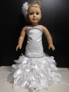 The New York Doll Collection Wedding Gown and Veil with Tiara for 18 inch Dolls The New York Doll CollectionTM