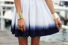 Dip Dye Skirt Fashion Textiles