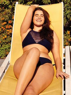 New trending story from People : Aerie Taps First Curvy Model, Barbie Ferreira, for New Unretouched Swimwear Ads. Xl Models, Curvy Models, Plus Size Lingerie Models, Bikinis, Swimsuits, Swimwear, Barbara Ferreira, Moda Praia Plus Size, Molliges Model