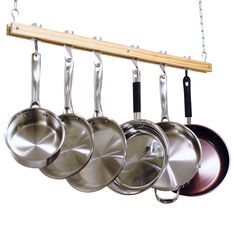 This Ceiling Mount Single Bar Wooden Pot Rack with 4 Pan Hooks would be a great addition to your home. It has a ceiling mount wooden Pot Rack length 36-inch single bar style, 4 Pan hooks and 2 Swivel