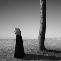 Visual artist Noell Osvald (previously) creates startlingly bold works through simple gestures all performed in black and white. The self-portraits rarely show the 25-year-old artist's face, instead expressing emotion through the way she tilts her head or slightly crooks her neck. Emphasizing line,