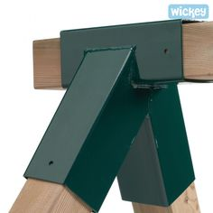 KBT Garden Swing Corner In Green Powder Coated Steel Including Fixings Holes For Square Timbers