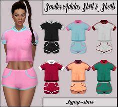 LumySims: Semller Shirt and Shorts • Sims 4 Downloads