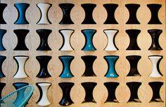 Stool Storage at the Ekimetrics.02's offices in Paris, France. Designed by Vincent & Gloria Architectes