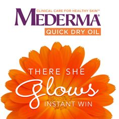 I just entered the Mederma® Quick Dry Oil There She Glows Instant Win! Enter now and you could win a bottle of Mederma® Quick Dry Oil and a Grand Prize $500 Amazon.com Gift Card and I may get a bonus entry.