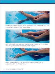Swim Speed Workouts: Proper Freestyle Kicking Technique and how to get rid of leg cramps during freestyle swimming kick sets Swimming Drills, Swimming Memes, Competitive Swimming, Swimming Tips, Open Water Swimming, Olympic Swimming, Synchronized Swimming, Speed Workout, Pool Workout