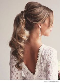 lovely-and-elegant-ponytail-inspiration-love-the-earrings-too