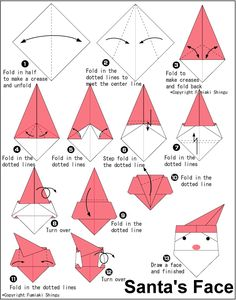 Christmas Origami Diagram 03 Lancer Es Wiring Santa Cap Folding Instructions Instruction A Picfish Blogspot Com Xmas Star Ornament