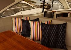 View Our Best Boat Bedding Package Examples & Fabric Choices Boat Bed, Best Boats, Choices, Bedding, Throw Pillows, Sun, Fabric, Home, Tejido