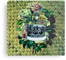 """Vintage Dreams"" -  Royal Crown & Roses Metal Print"