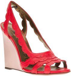 8831d28586d9 Lanvin wedge sandal Red Wedge Sandals