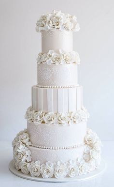 Featured Cake: COCO Cakes Australia; Wedding cake idea.