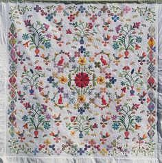 Okay, so I am thrilled to finally share with you the final results of this beautiful quilt, Harriot . This is another masterpiece by Sue ...