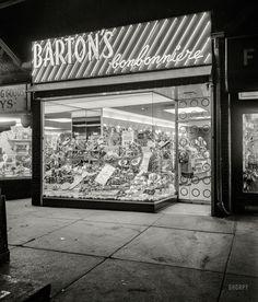"March 10, 1952. ""Barton's Bonbonniere, Brighton Beach Avenue, Brooklyn."" New York"