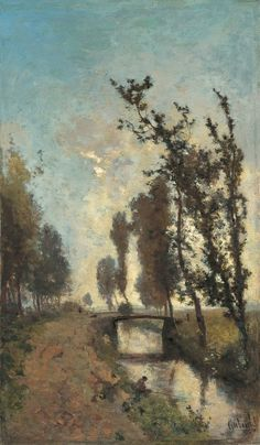 Paul Joseph Constantin 'Constan(t)' Gabriel (Amsterdam 1828-1903 Scheveningen) Morgennevel - Kunsthandel Simonis en Buunk, Ede (Nederland).