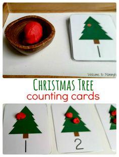 Free Printable Christmas Tree Ornament Counters!