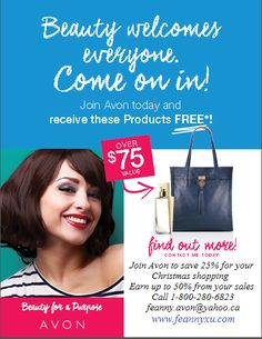 Wow it's the busiest selling season and we need helpers!  It's an awesome time to join Avon so that you can get your Christmas shopping done and receive 25% off...... and earn up to a 50% commission from your sales!  I would love to help you get started!  Message me or call 1-800-280-6823.  www.feannyxu.com #AvonCanada #joinAvon #BeautyforaPurpose #bestsellingseason #Christmas #gifts #holiday #workfromhome #residualincome #fun #enjoythefreedom #DreamBig