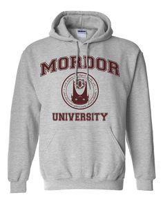Mordor University Hobbit Parody Hoodie Sweat Shirt by ShirtNic