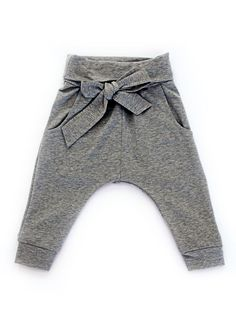 Kids On The Moon - collection. Grey trousers for baby girls