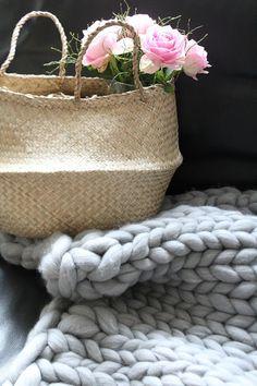 ich habs getan - meine Chunky knit Decke ist fertig!!!