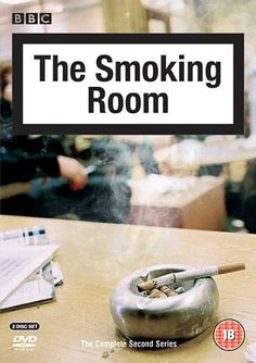 """The Smoking Room - Series 2 (2005) starring Robert Webb, Jeremy Swift, Leslie Schofield, Nadine Marshall and Paula Wilcox. """"Complete second series of the BBC3 comedy set in the smoking room of an anonymous company, where an ecclectic group of characters including crossword addict Barry, lazy lothario Clint, self-obsessed Annie and lovelorn skiver Robin nurse that last ciggie and discuss the ins and outs of their mundane lives."""""""