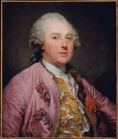 Charles Claude de Flahaut (1730–1809), Comte d'Angiviller, by   Jean Baptiste Greuze  (1725–1805), 1763. d'Angiviller was in charge of the household of the dauphin's sons and he developed a close relationship with the future Louis XVI, who would later name him director general of the Batîments du Roi. He was deeply committed to his post, which was the equivalent of minister of culture. He wears the red ribbon and Order of St. Louis in recognition of his early, brilliant military career.
